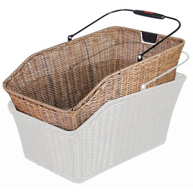 KlickFix Structura GT Bike Basket for Racktime brown